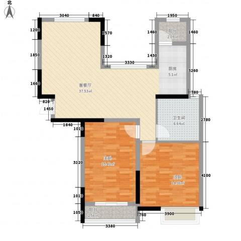 德民旺角2室1厅1卫0厨112.00㎡户型图