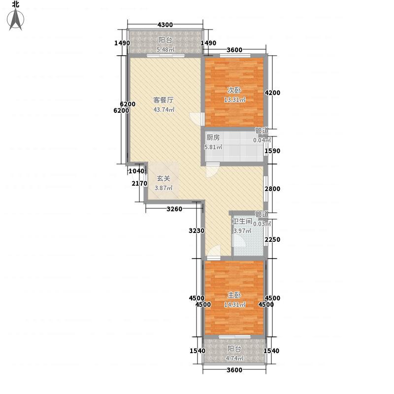 学府小院6#户型2室