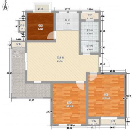 波塔东郡3室0厅1卫1厨88.79㎡户型图