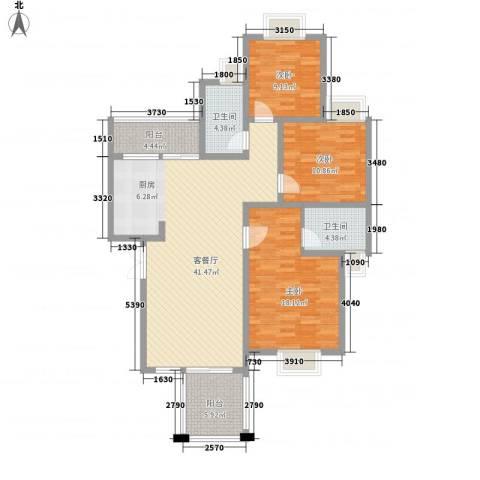 兴隆城市花园二期3室1厅2卫0厨119.00㎡户型图