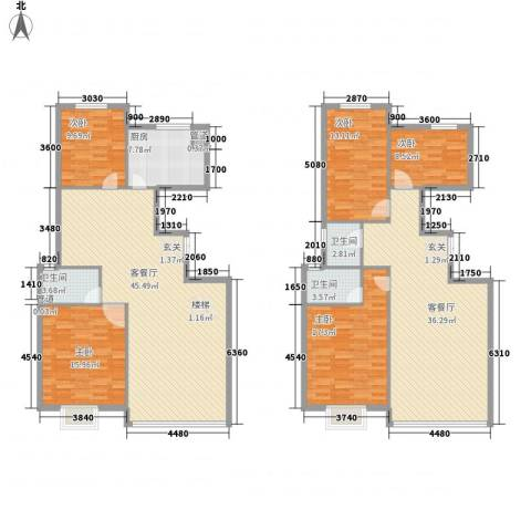 三北名都5室2厅3卫1厨227.00㎡户型图