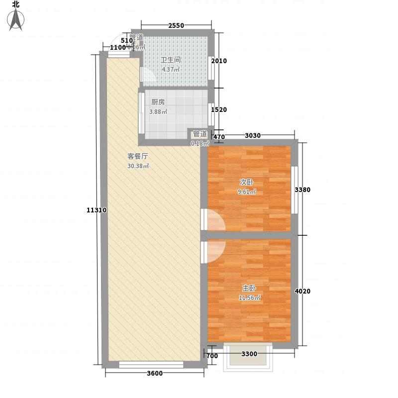 金汉御园85.03㎡金汉御园户型图7#楼C户型12室2厅1卫1厨户型2室2厅1卫1厨