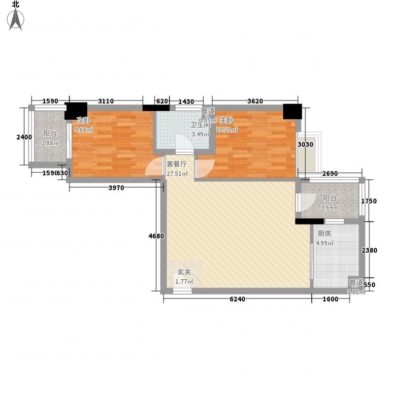 滨江花园87.18㎡滨江花园户型图03166户型2室2厅1卫1厨户型2室2厅1卫1厨