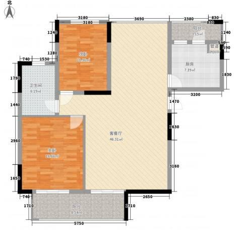 卫生公寓2室1厅1卫1厨140.00㎡户型图