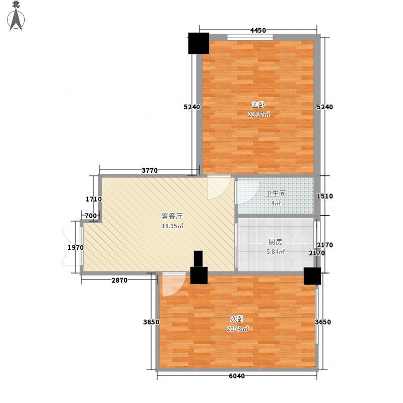 建信大厦96.47㎡G户型2室1厅1卫1厨