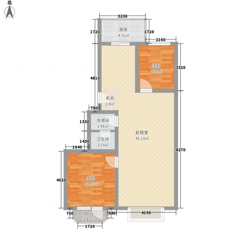 汇豪澜湾102.23㎡汇豪澜湾户型图2室2厅1卫1厨户型10室