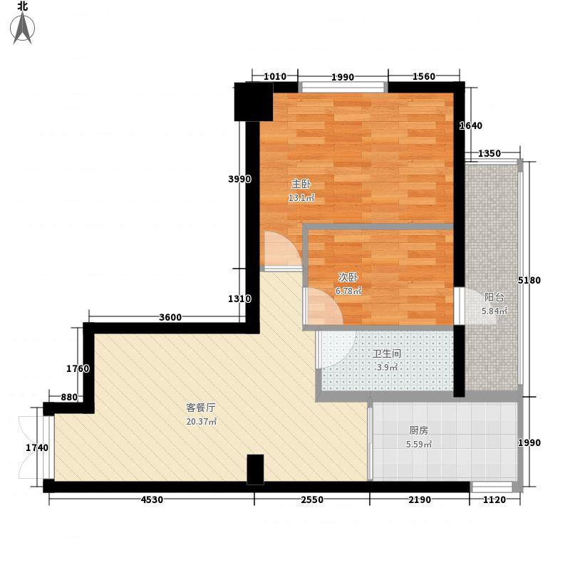 建信大厦80.21㎡G户型2室1厅1卫1厨