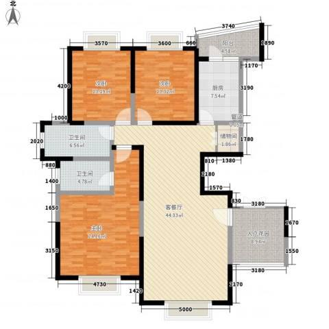 新世纪星城三期3室1厅2卫1厨184.00㎡户型图