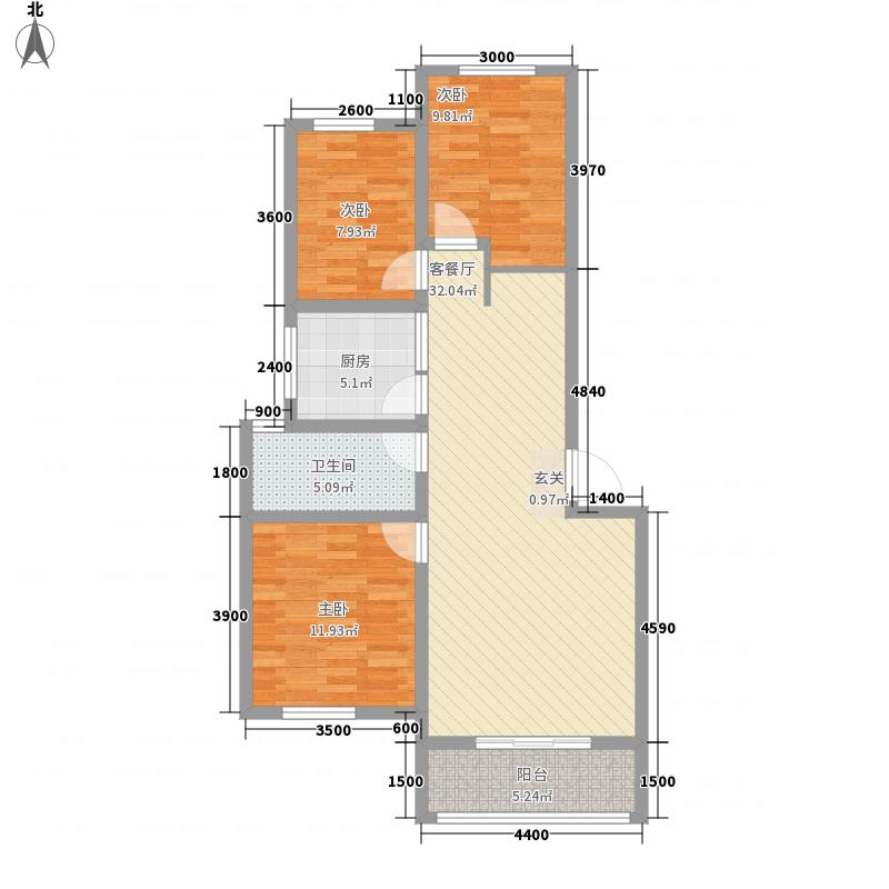 奇瑞bobo城6.00㎡奇瑞BOBO城三期多层F#5区D10户型3室2厅1卫1厨