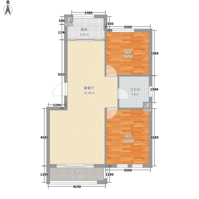 枫和庭苑87.15㎡枫和庭苑户型图25#楼C户型2室1厅1卫1厨户型2室1厅1卫1厨