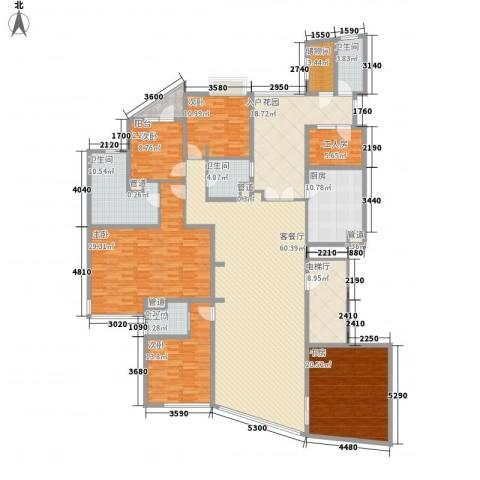 昌盛双喜城5室1厅4卫1厨288.00㎡户型图