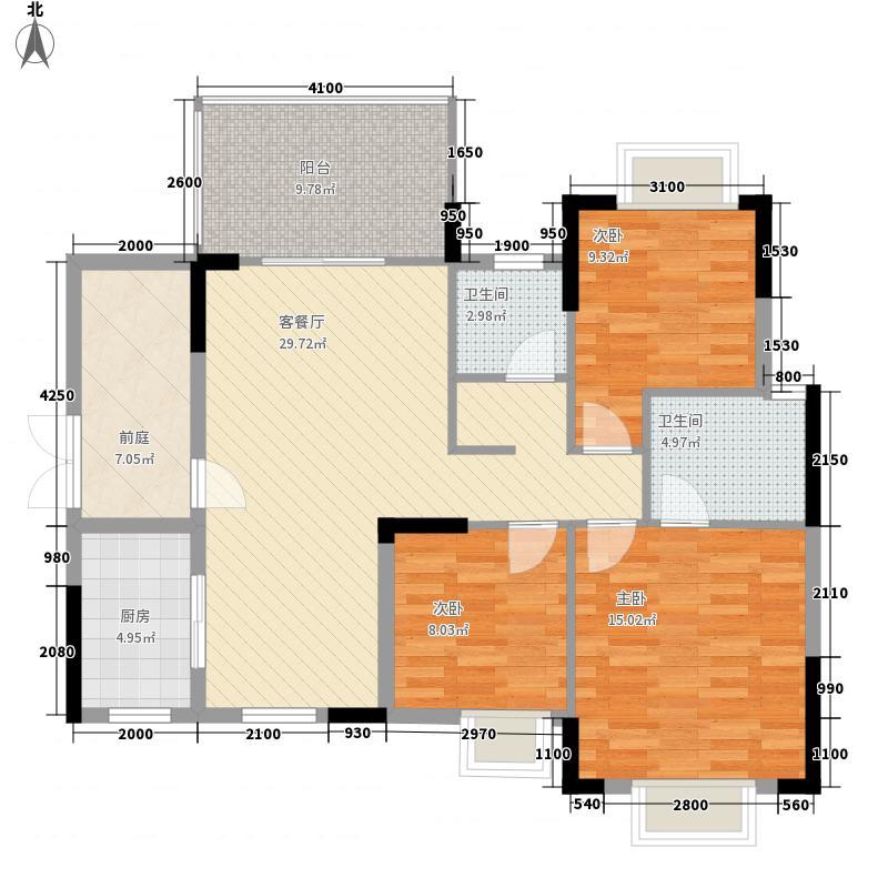 江南名居116.41㎡江南名居户型图锦苑8-11座E-2型3室2厅2卫1厨户型3室2厅2卫1厨