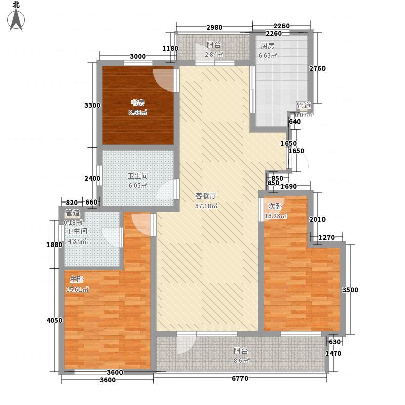 满庭春MOMA12.00㎡三期25-1栋户型3室2厅2卫1厨
