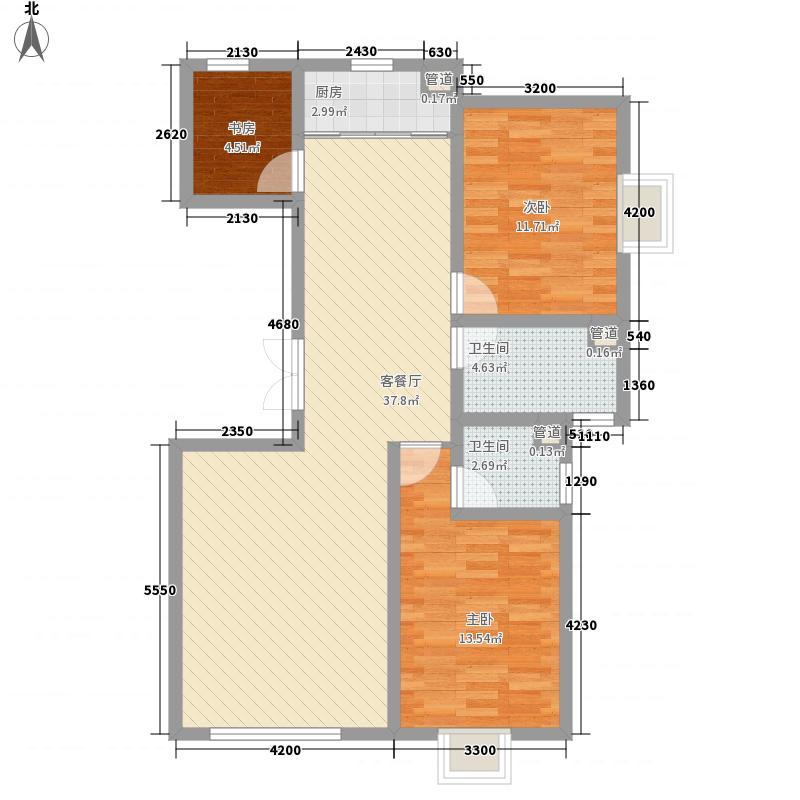华隆雾凇东郡小高层7-8#标准层A5户型