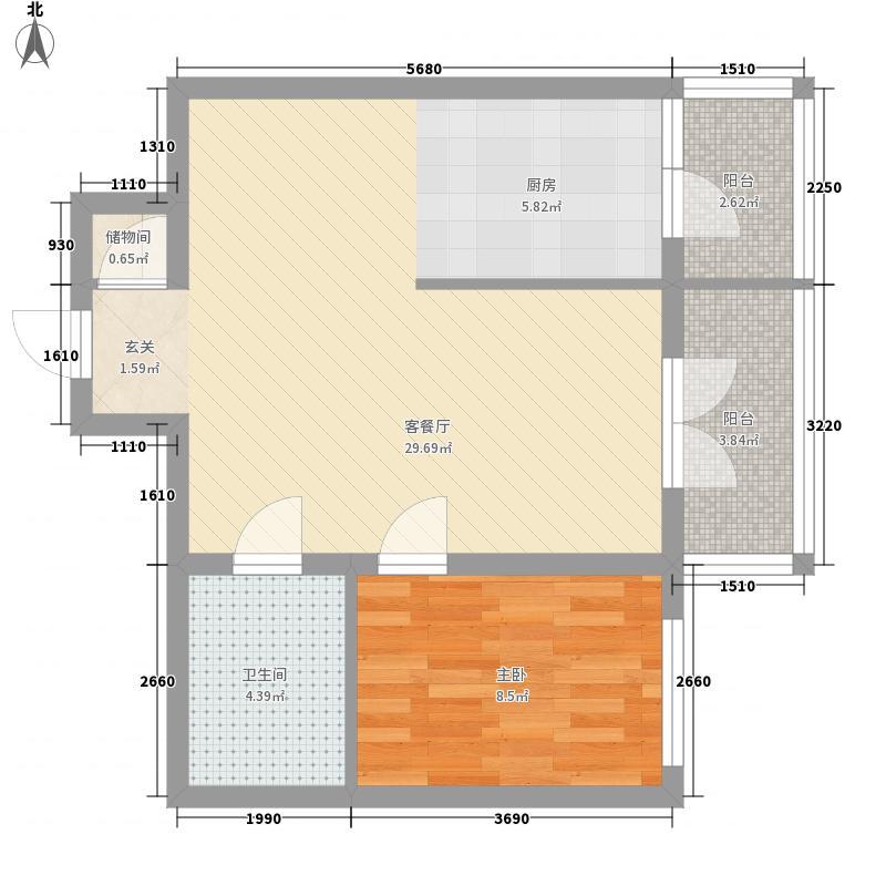 明园丽景49.70㎡明园丽景户型图1室1厅1卫1厨户型10室