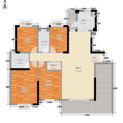 祥和嘉苑4室1厅2卫1厨186.00㎡户型图