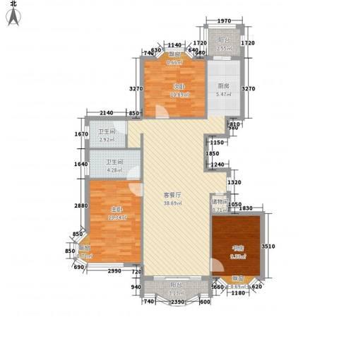 荣耀上城3室1厅2卫0厨121.00㎡户型图