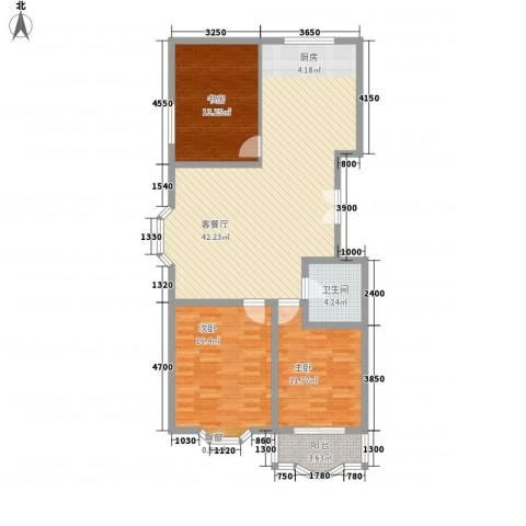 漪汾华苑(华宇)3室1厅1卫0厨119.00㎡户型图
