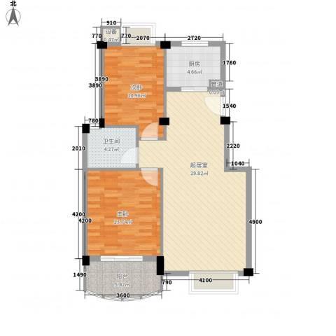 金龙花园2室0厅1卫1厨97.00㎡户型图