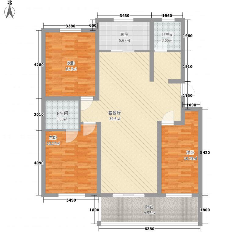 东泰花园又一居70.00㎡东泰花园又一居3室户型3室