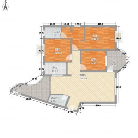 金銮湾3室1厅2卫1厨139.00㎡户型图