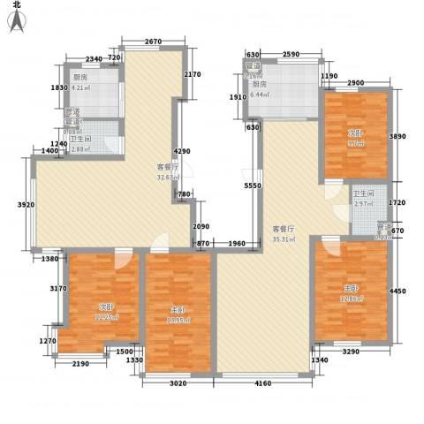 消防警官家园4室2厅2卫2厨133.67㎡户型图