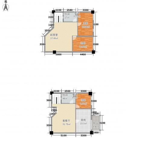 凯旋大地3室1厅2卫1厨191.00㎡户型图