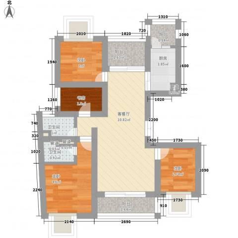 鹏欣丽都4室1厅2卫1厨50.00㎡户型图