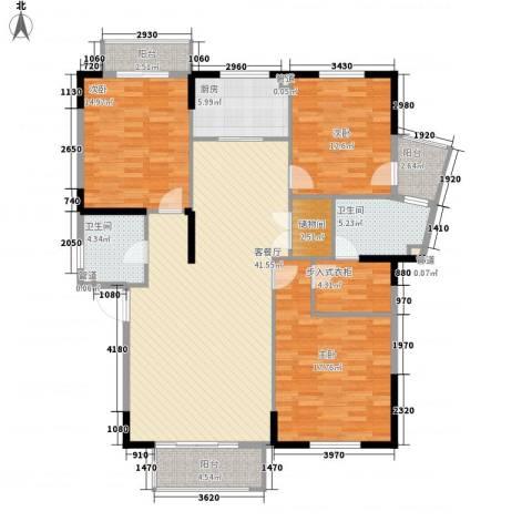 水晶森林3室1厅2卫1厨165.00㎡户型图