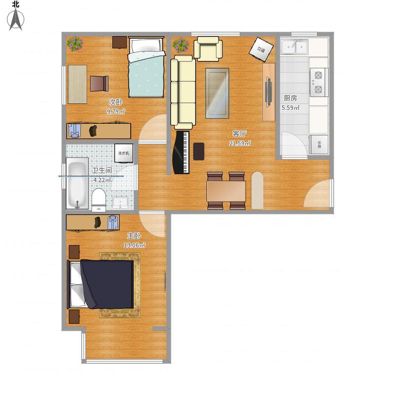 北京-惠泽园-C4楼B1户型设计方案