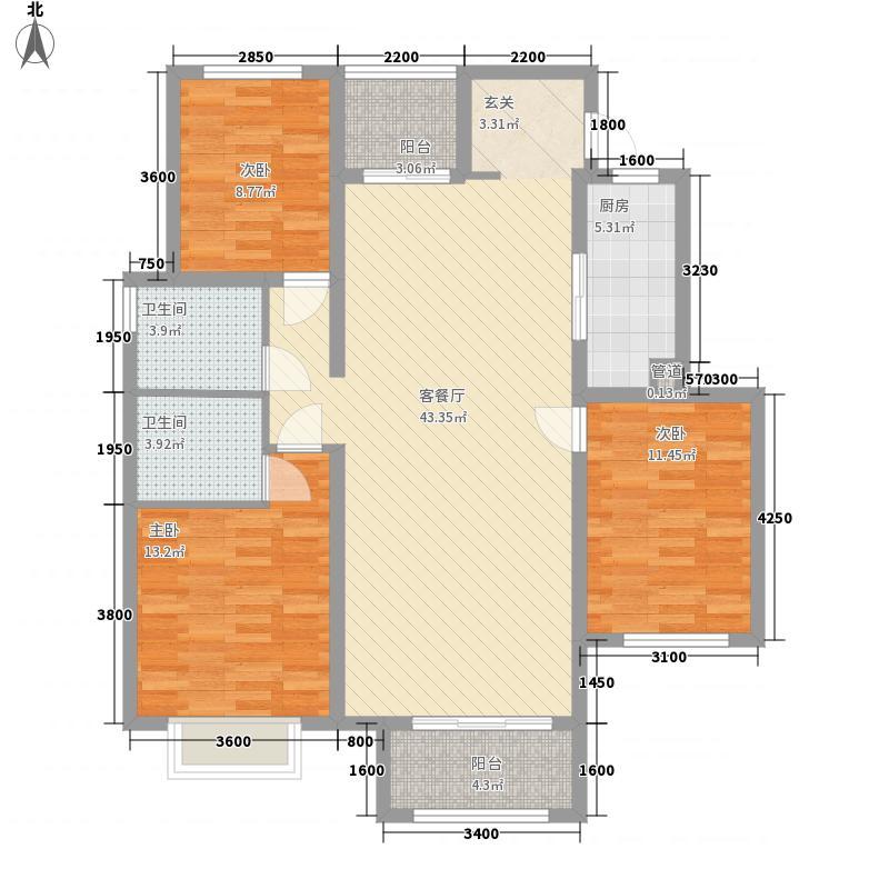 美澳花园123.00㎡322123户型3室2厅2卫