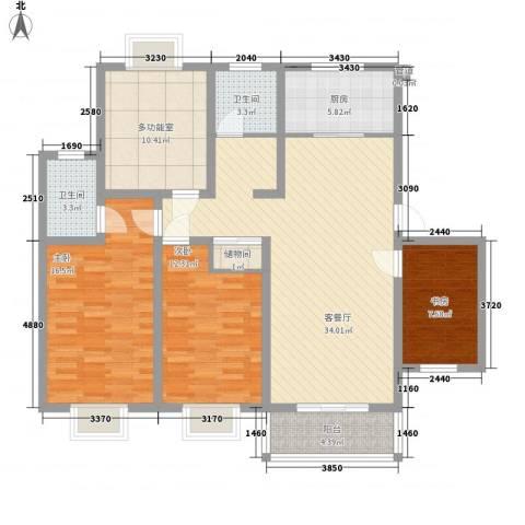 御都花园3室1厅2卫1厨143.00㎡户型图