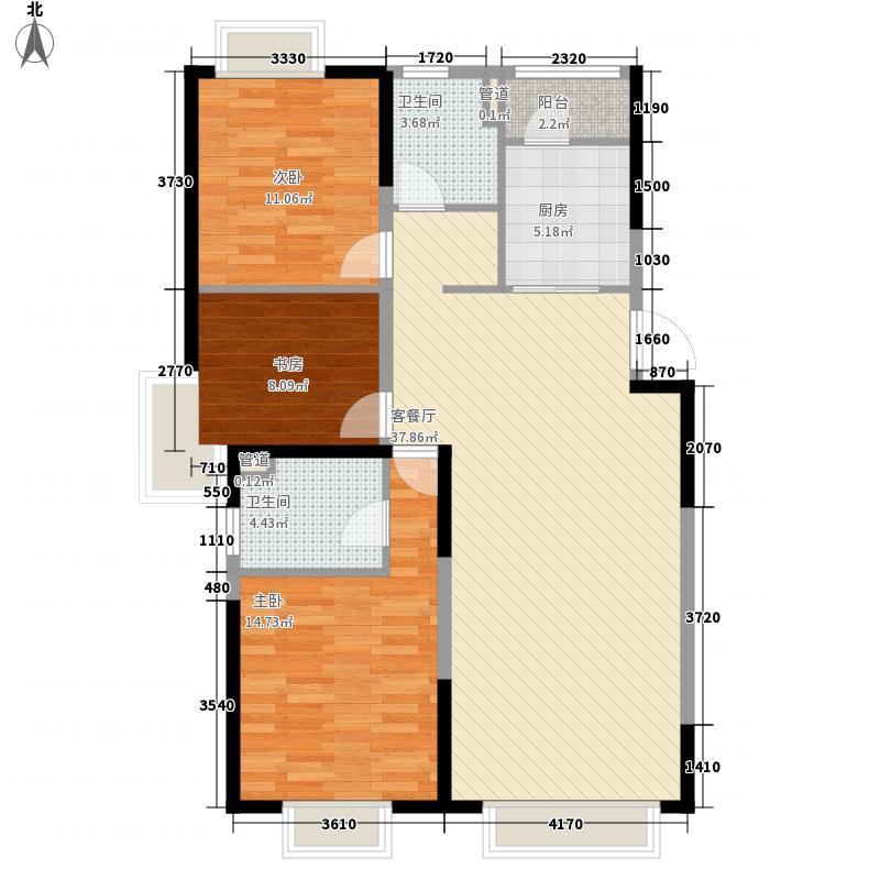 金地名京123.00㎡金地名京户型图32#户型图2室2厅2卫户型2室2厅2卫