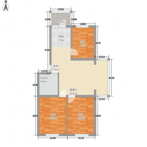 龙埠城市花园3室1厅1卫0厨100.00㎡户型图