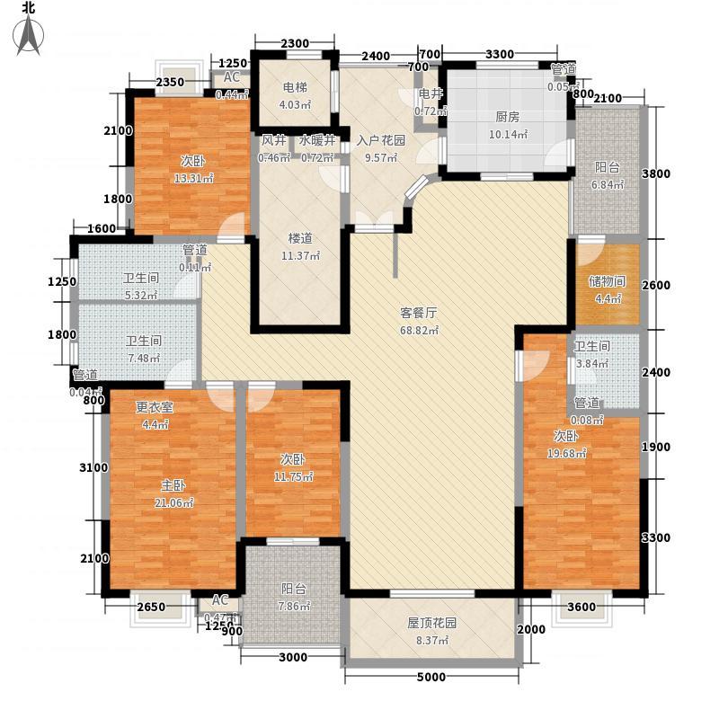 九锦台230.40㎡九锦台户型图10号楼A1户型4室2厅3卫1厨户型4室2厅3卫1厨