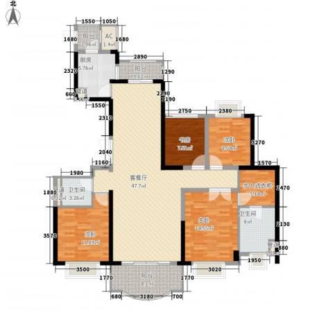 东城万达广场4室1厅2卫1厨179.00㎡户型图