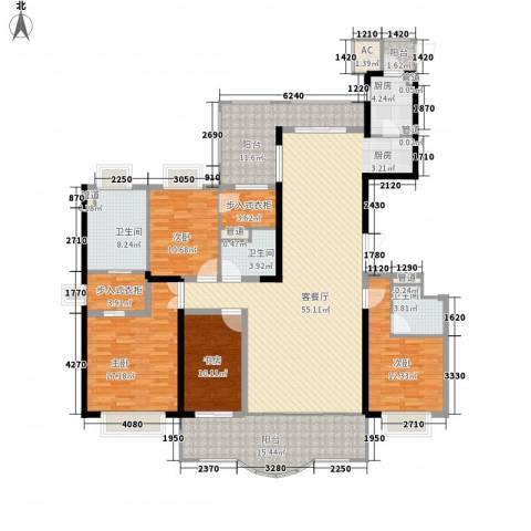 东城万达广场4室1厅3卫1厨232.00㎡户型图