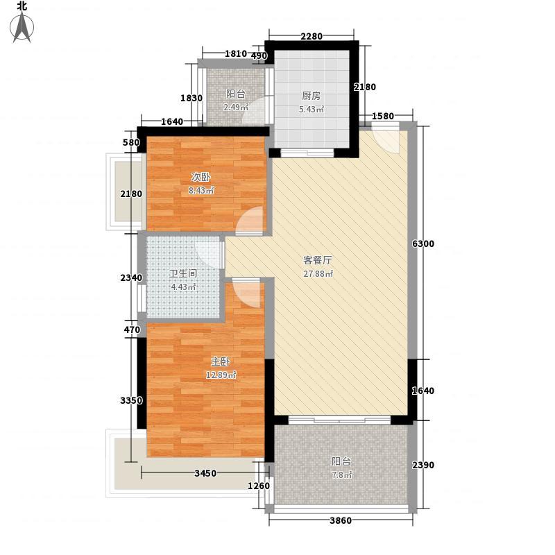 恒大城99.00㎡恒大城户型图3#3,7#3户型图2室2厅1卫1厨户型2室2厅1卫1厨