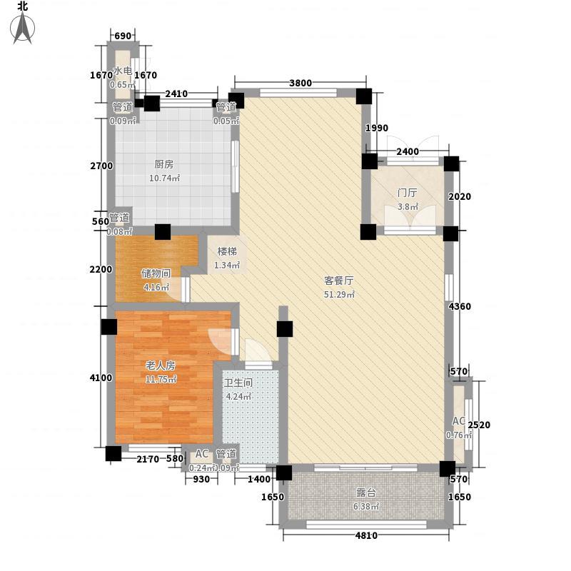 邹城碧桂园235.00㎡G146一层户型2室2厅1卫1厨