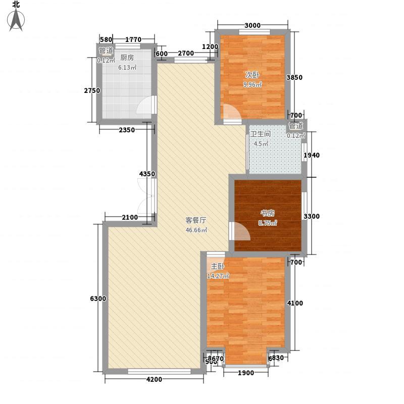 傲北上城130.27㎡傲北上城户型图4#H1-02-01户型3室2厅1卫1厨户型3室2厅1卫1厨