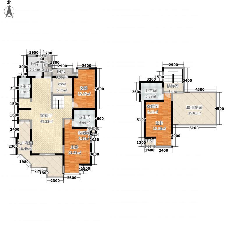 九锦台215.79㎡九锦台户型图1号楼一单元AY跃层户型4室2厅3卫1厨户型4室2厅3卫1厨