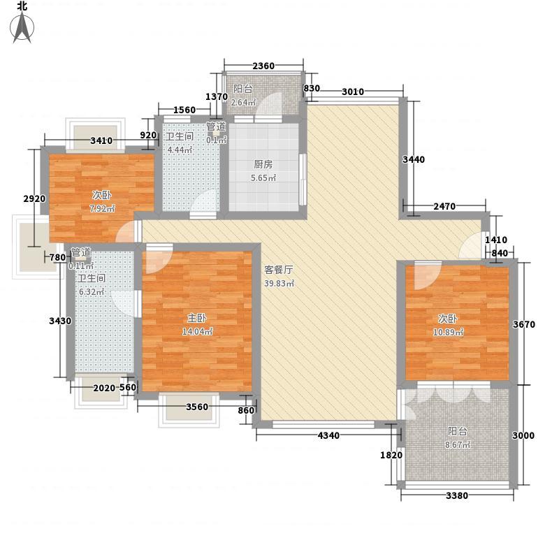 金域水岸苑145.00㎡金域水岸苑3室户型3室