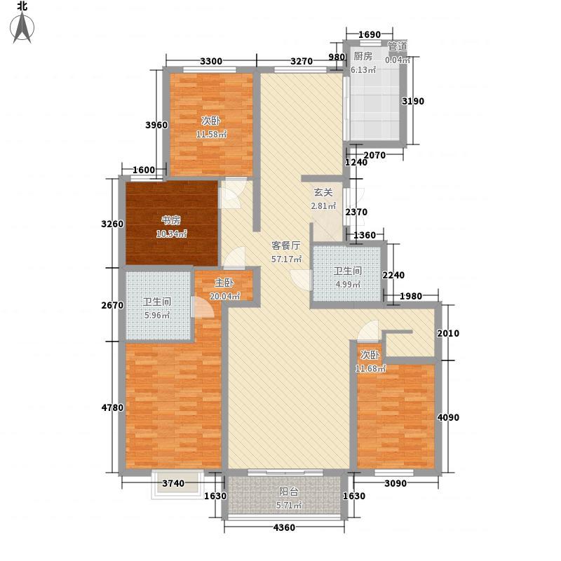宝湖天下2.00㎡18#P首层复式户型6室3厅3卫1厨