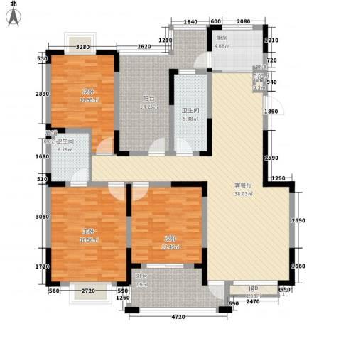 和美第3室1厅2卫1厨157.00㎡户型图