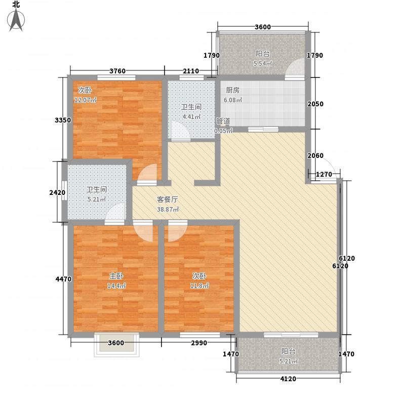 怡华香缇丽舍126.10㎡怡华香缇丽舍户型图J3室2厅2卫1厨户型3室2厅2卫1厨