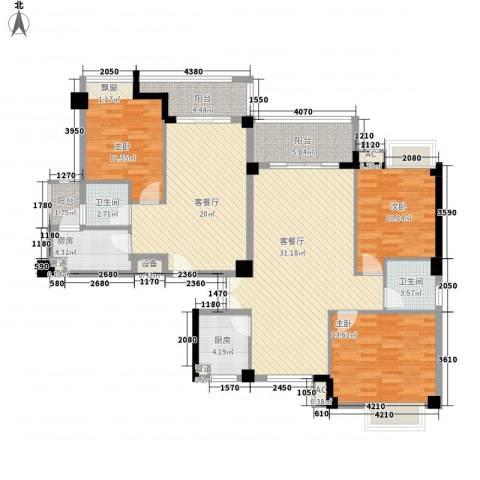 圣地亚哥3室2厅2卫2厨165.00㎡户型图