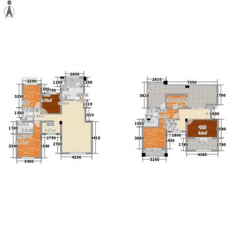 融科玖玖城5室1厅3卫1厨214.00㎡户型图