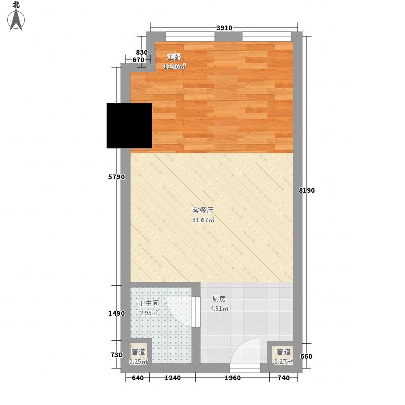 大唐国际商务公寓50.00㎡大唐国际商务公寓户型图50平米户型(居住)1室1厅1卫1厨户型1室1厅1卫1厨