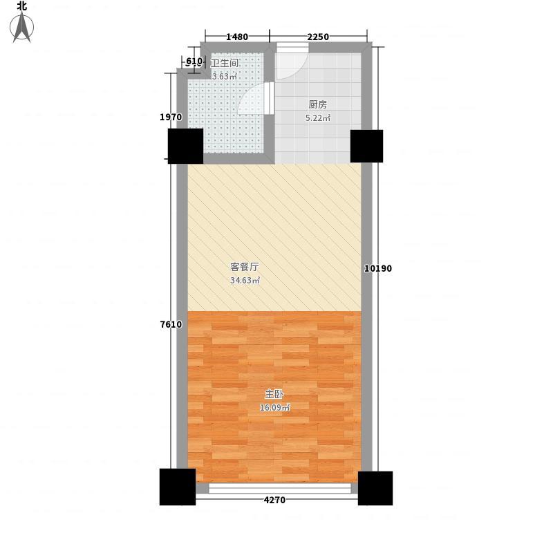 大唐国际商务公寓60.00㎡大唐国际商务公寓1室户型1室