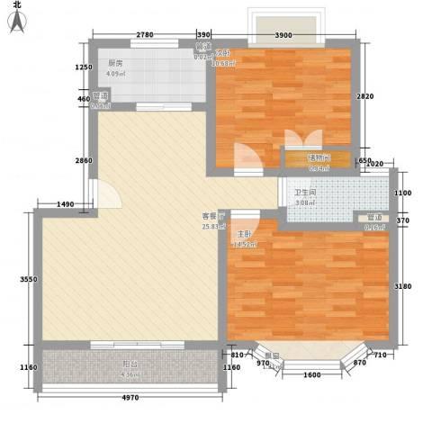 泰燕华庭2室1厅1卫1厨193.00㎡户型图